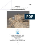 Draft guidelines for M&H of Marble slurry generated from marble processing plants in Rajasthan.pdf