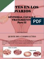 Isabel Rangel Barón - Quistes en Los Ovarios, Síntomas, Causas y Tratamiento, Parte II
