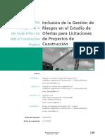 Inclusión de la Gestión de Riesgos en el Estudio de ofertas para licitaciones de proyectos de construccion.pdf