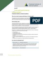 Internal Audit Performance Measurement