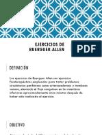 Ejercicios de Buerguer-Allen