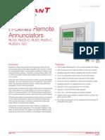 RLCD C_M85005 0128 R Series Remote Annunciators