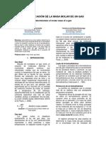 Informe 2. Determinar la masa molar de un gas (1).docx