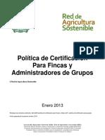CERTIFICACION DE FINCAS CAFETERAS