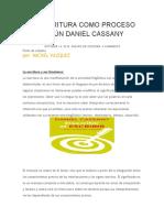 LA ESCRITURA COMO PROCESO SEGÚN DANIEL CASSANY.docx