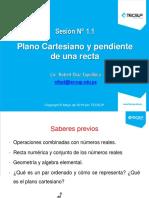 Sesión 1. Plano Cartesiano-Pendiente