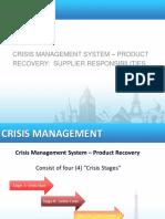 Crisis management training