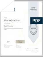 Journalism Certificate
