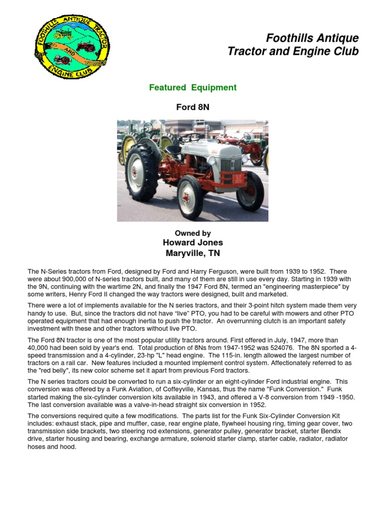 Ford 8n Tractor Engines Conversion