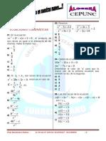 Álgebra - Ecuaciones cuadráticas
