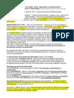 Documentação- processo de criação, coleta, organização, armazenamento e disseminação de documentos ou informações .docx