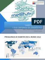 Criterios de diagnóstico de Diabetes Mellitus