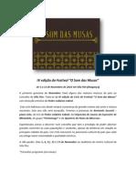Programa Festival  O Som da Musas- IV edição Imprensa PDF