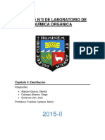 Informe Destilacion Quimica General