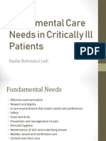 Fundamental Care Needs in ICU
