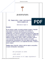 Sagot, Montserrat (2013) El Femicidio Como Necropolítica en Centroamérica