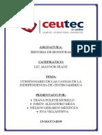 T4-CUESTIONARIO-CAUSA DE LA INDEPENDENCIA DE CENTROAMERICA..docx