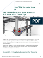 30 Great AutoCAD Secrets You Didn't Know _ ArchiStar Academy