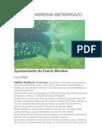 12 May 2019 Coloca Barreras Antisargazo