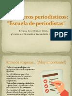 Géneros Periodísticos. Cuarto de La ESO. Final