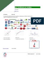 Audit Certificate