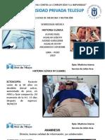 Historia Clinica - Pancreatitis - Litiasis vesicular - Tumor retroperitoneal