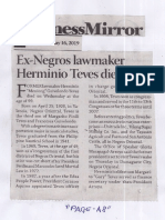 Business Mirror, May 16, 2019, Ex-Negros lawmaker Hermino Teves dies at 99.pdf