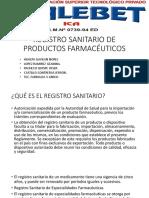 Registro Sanitario en La Industria Farmaceutica