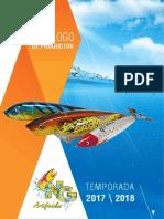 Catalogo de señuelos de pesca en el mar