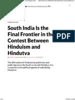 Anoop Sadanandan South India Last Frontier for Hinduism vs Hindutva