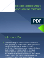 Tipos de Soldaduras y Uniones de Los Metales