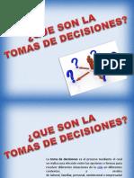 TOMA de DECISIONES Relaciones Humanas