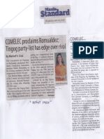 Manila Standard, May 16, 2019, COMELEC proclaims Romualdez Tingog party-list has edge over rival.pdf