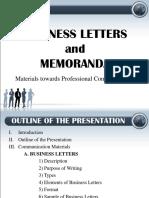 Business Letters and Memoranda