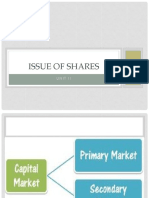 Issue of Shares- Unit 2