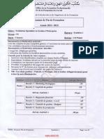 Examen de Fin de Formation 2012 Tsge Synthese 1