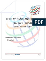 SMBA - Project Report - PepsiCO - Amit Patil