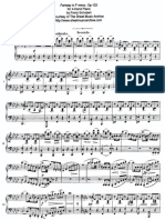 Fantasy in f Minor, Op 103, Pt 1