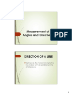 Measurement of Angles and Directions