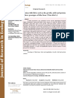 Effects of foliar application with fulvic acid on the growth, yield and protein content of three genotypes of faba bean (Vicia faba L.)