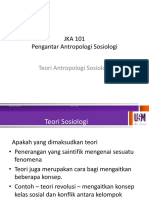 Teori Antro dan Sosiologi