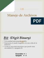 1RA CLASE de ARCHIVOS Definición de Archivos (Secuenciales)