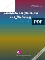 International Relations and Diplomacy (ISSN2328-2134) Volume 6, Number 12,2018