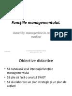 Funcţiile Managementului