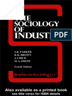 S. R. Parker - The Sociology of Industry (Studies in Sociology) (1988).pdf