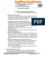 EN6501 Municipal Solid Waste Management Question Bank