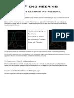 MJP Engineering Valve Lift Designer Instructions