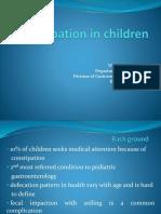 Pediatric Constipation