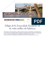 Colegio de La Inmaculada Concepción de La Orden Militar de Calatrava. Salamanca