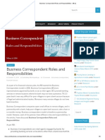 Business Correspondent Roles and Responsibilities – Mkerj